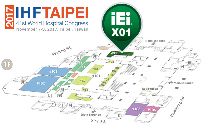 2017 IHF TAIPEI - IEI map