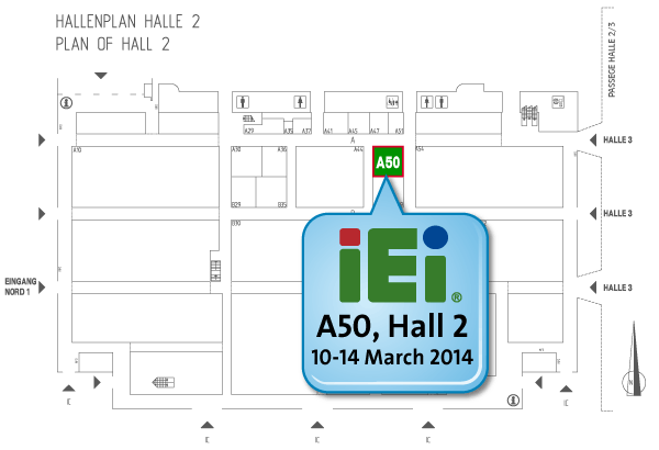 IEI CeBIT Hall2, A50 Map