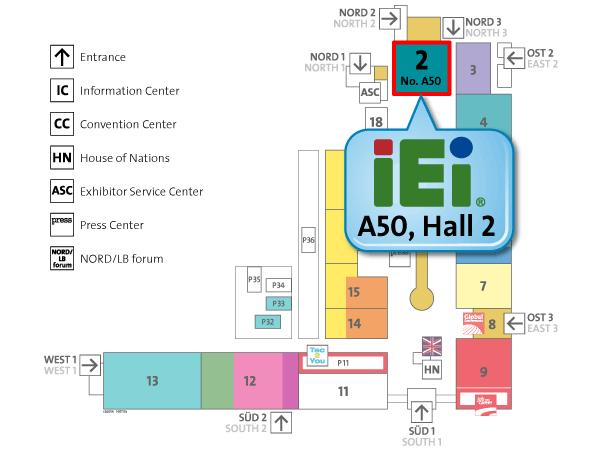 IEI CeBIT Hall2 Map