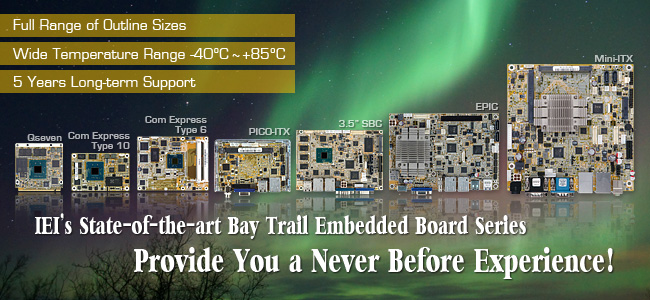 IEI's State-of-the-art Bay Trail Embedded Board Series