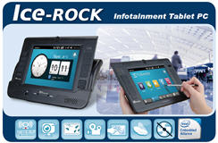 Ice-ROCK series: Infotainment Tablet PC