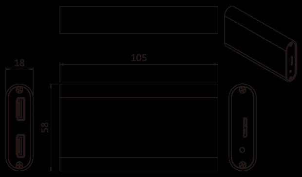 HDB-301R Dimensions