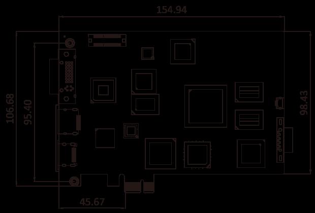 HDC-701EL Dimensions