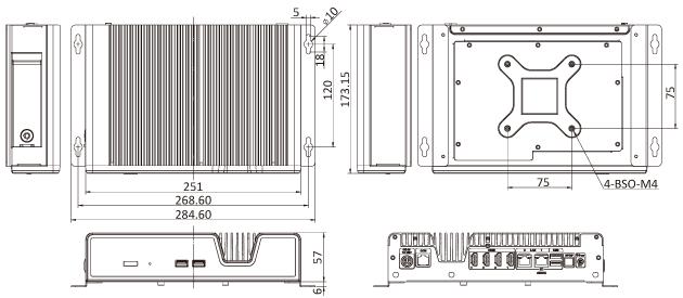IDS-200-A70M Dimensions