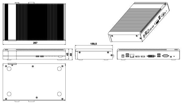 IDS-H61 Dimensions