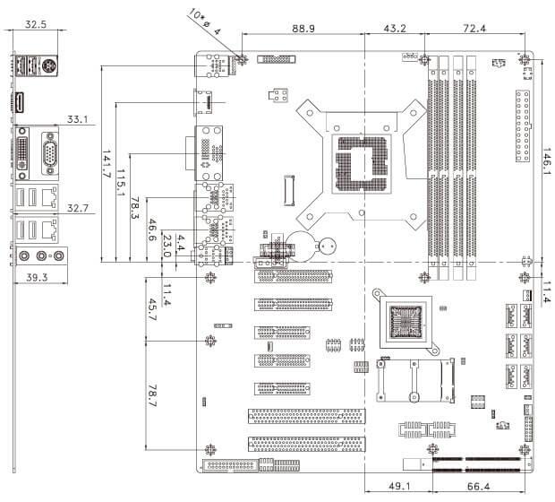 IMBA-C2360-i2 Dimensions