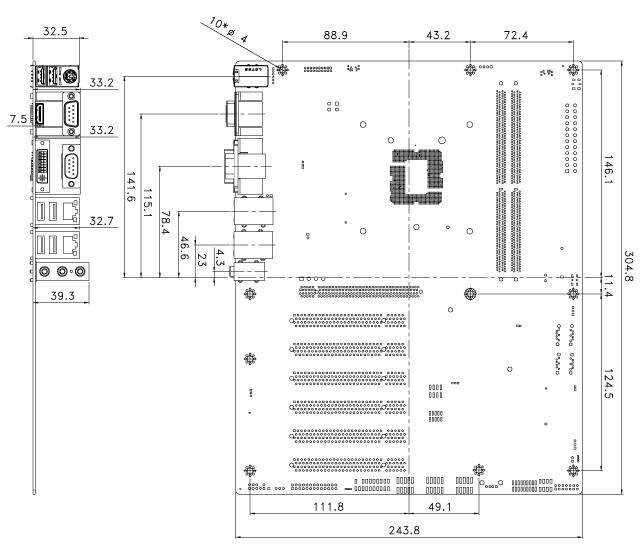 IMBA-H110 Dimensions