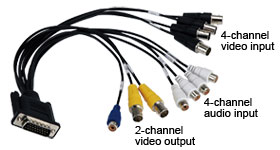 D-Sub to RCA jack and BNC cable