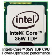 Intel® Core™ 35W TDP CPU