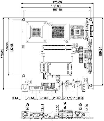 KINO-9453GSE2 Dimensions