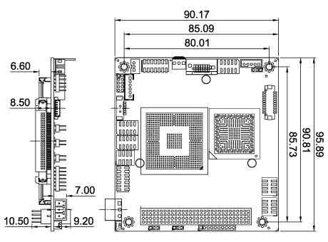 PM-PV-D5251/N4551 Dimensions