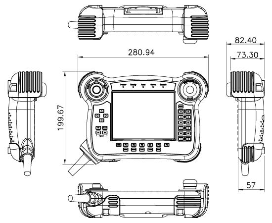 Robot-TP-65M Dimensions