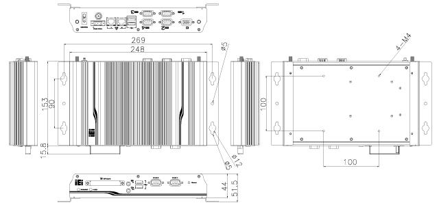 TANK-101B Dimensions