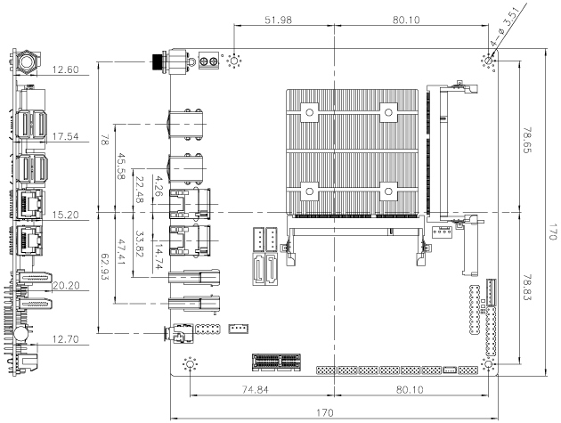 tKINO-AL Dimensions