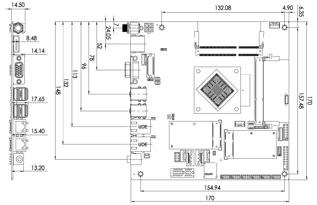 tKINO-BW SBC Dimensions