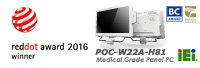 IEI's POC-W22A-H81 Wins the Red Dot Design Award 2016