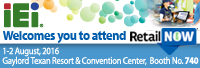 Welcome to visit IEI at RetailNOW USA 2016